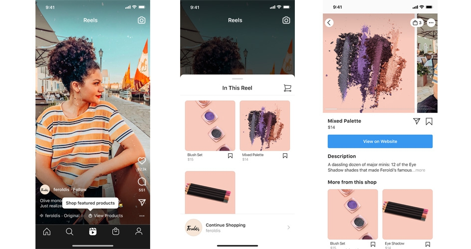 Instagram lanzó Shopping en Reels